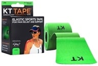 KT Tape - Kinesiology Therapeutic Elastic Athletic Tape Pre-Cut Strips Green - 20 Strip(s), from category: Health Aids