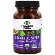 Organic India - Peaceful Sleep Balances Sleep Cycles - 90 Vegetarian Capsules (851469000526)