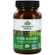 Organic India - Liver Kidney Care Detoxify & Rejuvenate - 90 Vegetarian Capsules, from category: Herbs
