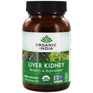 Organic India - Liver Kidney Care Detoxify & Rejuvenate - 90 Vegetarian Capsules by Organic India