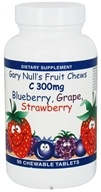 Gary Null's - Kid's Fruit Chews C Blueberry Grape Strawberry 300 mg. - 90 Chewable Tablets