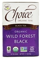 Choice Organic Teas - Black Tea Wild Forest Black - 16 Tea Bags
