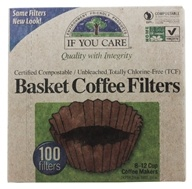 If You Care - Coffee Filters 8 inch Basket Unbleached Totally Chlorine-Free (TCF) - 100 Filter(s) by If You Care
