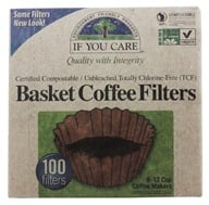 If You Care - Coffee Filters 8 inch Basket Unbleached Totally Chlorine-Free (TCF) - 100 Filter(s), from category: Housewares & Cleaning Aids