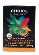 Image of Choice Organic Teas - Black Tea English Breakfast Decaffeinated - 16 Tea Bags
