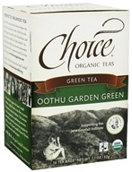 Choice Organic Teas - Green Tea Oothu Garden Green - 16 Tea Bags (047445919641)