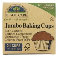 Jumbo Baking Cups Unbleached Totally Chlorine-Free (TCF) - 24 Cup(s) by If You Care