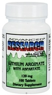 Advanced Research - Lithium Arginate with Aspartate 120 mg. - 100 Tablets - $5.22