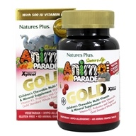 Image of Nature's Plus - Source Of Life Animal Parade Gold Children's Multi-Vitamin & Mineral Supplement Natural Cherry Flavor - 60 Chewable Tablets