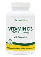 Nature's Plus - Ultra Vitamin D3 With 25 mg Trans-Resveratrol 5000 IU - 90 Tablets