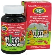 Image of Nature's Plus - Source Of Life Animal Parade Children's Multi-Vitamin and Mineral Natural Cherry Flavor - 90 Chewable Tablets