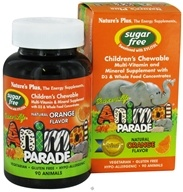 Nature's Plus - Source Of Life Animal Parade Children's Multi-Vitamin and Mineral Natural Orange Flavor - 90 Chewable Tablets