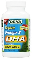 Image of Deva Nutrition - Vegan Omega-3 DHA Delayed Release - 90 Vegetarian Capsules