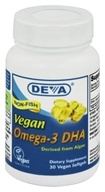 Deva Nutrition - Vegan Omega-3 DHA - 30 Softgels - $10.57