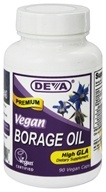 Deva Nutrition - Vegan Borage Oil Omega-6 High GLA - 90 Vegetarian Capsules (895634000256)