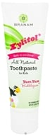 Branam Oral Health - Kids Toothpaste for Kids All-Natural with Xylitol Yum Yum Bubblegum - 4.2 oz. (899432002320)