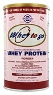 Solgar - Whey To Go Protein Powder Natural Strawberry - 16 oz.