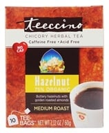 Teeccino - Hazelnut 75% Organic Herbal Coffee Medium Roast Caffeine Free - 10 Tee Bags by Teeccino