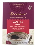 Teeccino - Vanilla Nut 75% Organic Herbal Coffee Medium Roast Caffeine Free - 10 Tee Bags by Teeccino
