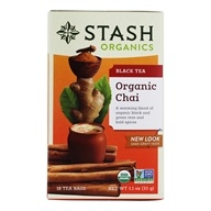 Stash Tea - Premium Organic Chai Black & Green Tea - 18 Tea Bags (077652082746)
