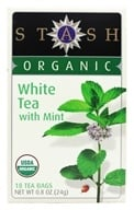 Stash Tea - Premium Organic White Tea with Mint - 18 Tea Bags (077652083101)