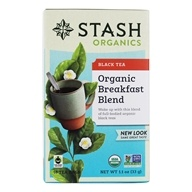 Stash Tea - Premium Organic Breakfast Blend Black Tea - 18 Tea Bags