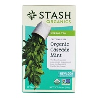 Stash Tea - Premium Organic Cascade Mint Caffeine Free Herbal Tea - 18 Tea Bags ...