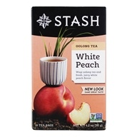 Stash Tea - Premium White Peach Oolong Tea with Wuyi Oolong - 18 Tea Bags