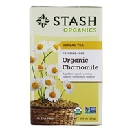 Stash Tea - Premium Organic Caffeine Free Herbal Tea Chamomile - 18 Tea Bags (077652082722)