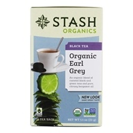 Stash Tea - Premium Organic Earl Grey Black & Green Tea - 18 Tea Bags ...