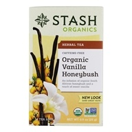 Stash Tea - Premium Organic Caffeine Free Herbal Tea Honeybush Vanilla - 18 Tea Bags (077652082401)