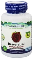 FruitrientsX - Resveratrol Trans-Resveratrol Standardized - 60 Vegetarian Capsules, from category: Nutritional Supplements