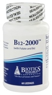 Biotics Research - B12-2000 with Folic Acid and B6 - 60 Lozenges