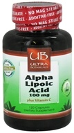 Image of Ultra Botanicals - Alpha Lipoic Acid plus Vitamin C 100 mg. - 120 Capsules