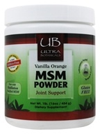 Ultra Botanicals - MSM Powder Joint Support Vanilla Orange - 1 lb.