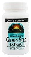 Image of Source Naturals - Grape Seed Extract Proanthodyn 200 mg. - 90 Tablets
