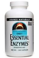 Source Naturals - Daily Essential Enzymes 500 mg. - 240 Capsules (021078009696)
