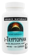 Image of Source Naturals - L-Tryptophan 500 mg. - 120 Capsules