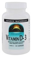 Source Naturals - Vitamin D-3 Bioactive Form For Bone & Immune Health 1000 IU - 180 Capsules