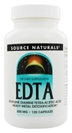 Source Naturals - EDTA Ethylene Diamine Tetra-Acetic Acid 500 mg. - 120 Capsules