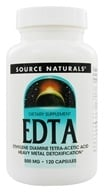 Source Naturals - EDTA Ethylene Diamine Tetra-Acetic Acid 500 mg. - 120 Capsules - $10.18