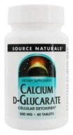 Source Naturals - Calcium D Glucarate Cellular Detoxifier 500 mg. - 60 Tablets