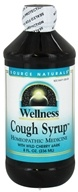 Image of Source Naturals - Wellness Cough Syrup With Wild Cherry Bark - 8 oz.