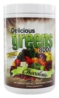 Greens World - Delicious Greens 8000 Chocolate - 10.6 oz.