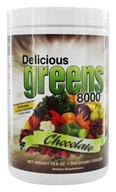 Image of Greens World - Delicious Greens 8000 Chocolate - 10.6 oz.