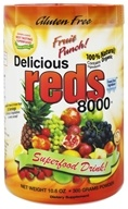 Greens World - Delicious Reds 8000 Fruit Punch - 10.6 oz.
