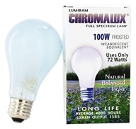 Chromalux A21 100W Frosted Light Bulb Full Spectrum Lamp by Lumiram