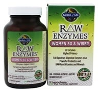 Garden of Life - RAW Enzymes Women 50 & Wiser - 90 Vegetarian Capsules by Garden of Life