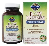 Image of Garden of Life - RAW Enzymes Men 50 & Wiser - 90 Vegetarian Capsules