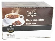 Keurig - Cafe Escapes Dark Chocolate Hot Cocoa 12 K-Cups - 6.35 oz. - $9.83